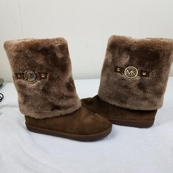 Michael Kors Girls Faux Fur Boots